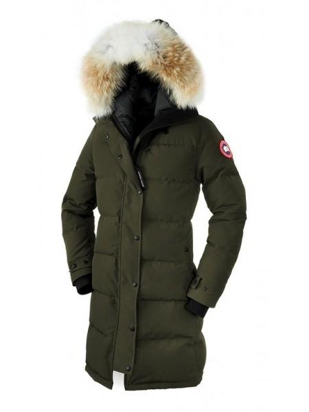 Canada Goose Shelburne Parka женская зелёная